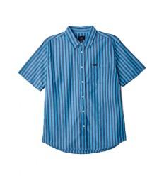 Camicie Obey Langton Stripe Woven da uomo blu