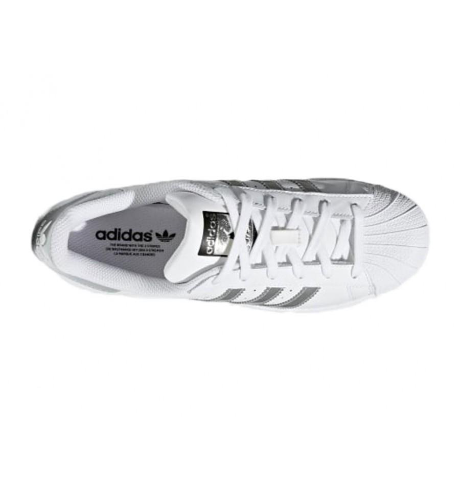 adidas superstar w argento