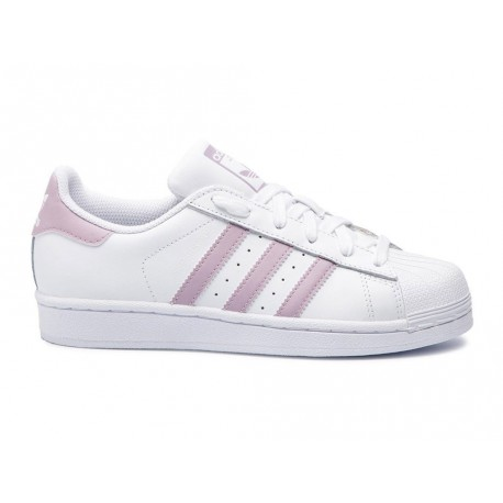 Scarpe Adidas Superstar W donna bianco rosa