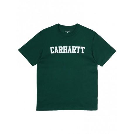T shirt Carhartt College uomo verde scuro