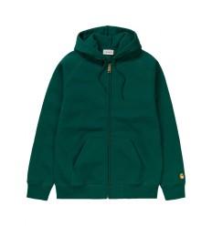 Felpa Carhartt Chase Hooded Jacket uomo verde