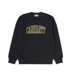 Felpa Carhartt Theory Sweatshirt uomo donna nero