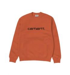 Felpa Carhartt sweat invernale uomo donna arancione