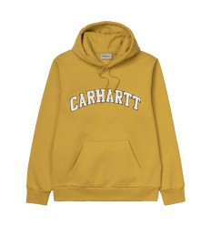 Felpa Carhartt hooded Princeton sweat invernale uomo giallo