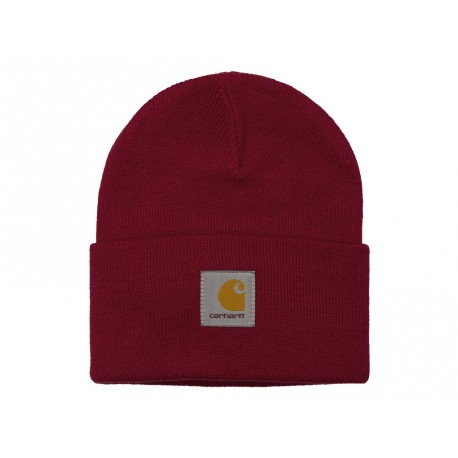 Cappello Carhartt Acrylic Watch Hat uomo donna rosso