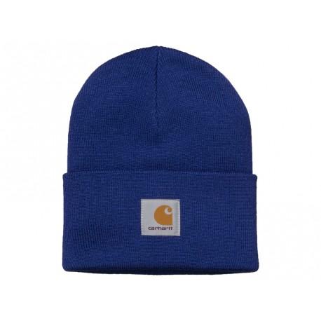 Cappello Carhartt Acrylic Watch Hat uomo donna azzurro thunder