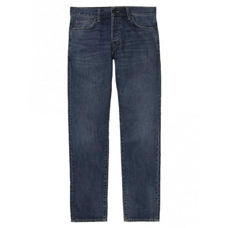 Jeans Carhartt Klondike pant uomo blue mid worn wash