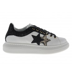 Scarpe 2Star da donna glitter vulc bianco