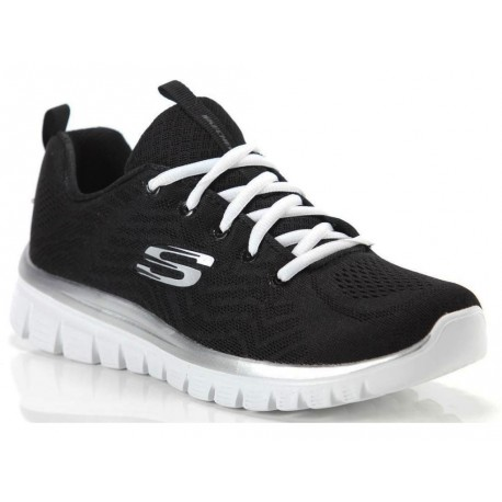 Scarpe Skechers Graceful-gel Connected da donna nero