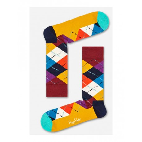 Happy Socks Cherry calzino uomo multicolore rombi