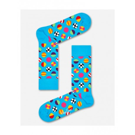 Happy Socks Clashing Dot calzino uomo turchese