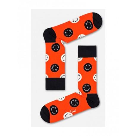 Happy Socks Halloween smile calzino donna arancione