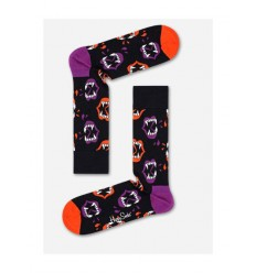 Happy Socks Halloween Fang calzino donna nero