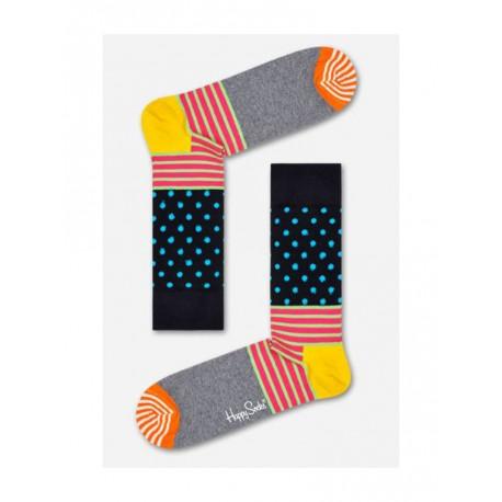 Happy Socks Stripe and Dot calzino donna grigio chiaro