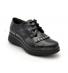 Scarpe Pitillos da donna inglesine grigio scuro