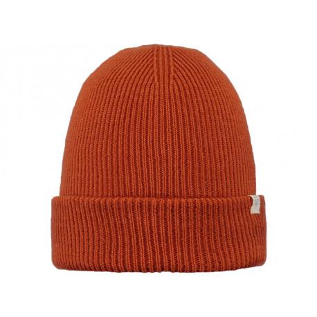 Cappello Barts da uomo a coste con risvolto arancione