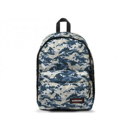 Zaino Eastpack Out of office Cranes uomo donna blu
