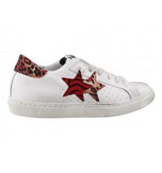 Scarpe 2Star donna maculato bianco rosso