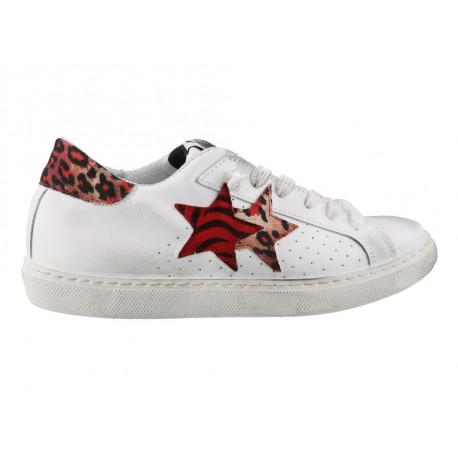 Scarpe 2Star da donna maculato bianco rosso