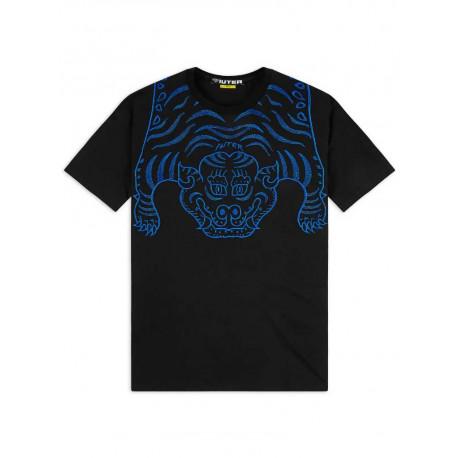 T-shirt Iuter Tibetan tee da uomo nero