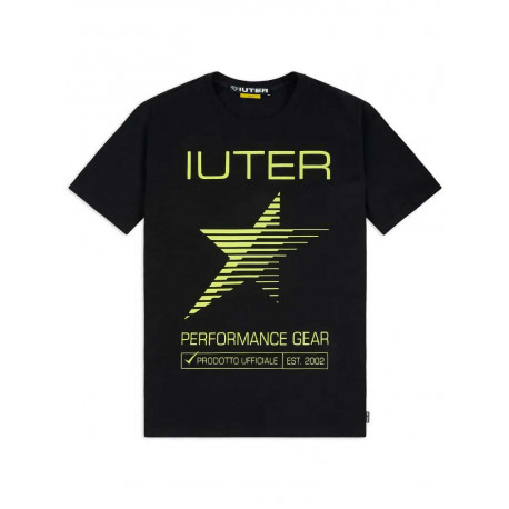 T-shirt Iuter Performance tee da uomo nero