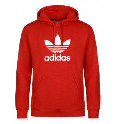 Felpa Adidas Trefoil Hoodie uomo donna rosso