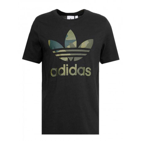T-shirt Adidas Camo infill uomo donna nero