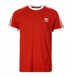 T-shirt Adidas 3 stripes tee uomo donna rosso
