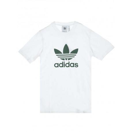 T-shirt Adidas Trefoil uomo donna bianco verde