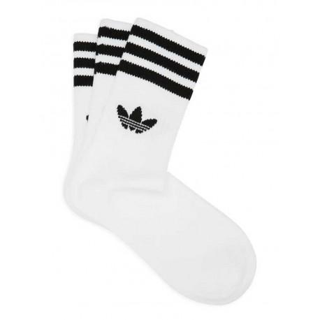 Calzini Adidas Mid Cut Crw Sck uomo donna bianco