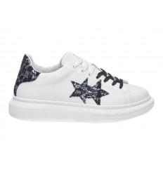 Scarpe 2Star Platform Donna Bianco Nero Maculato Glitter