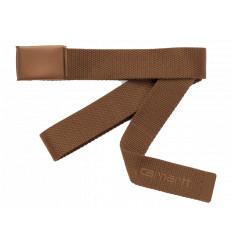 Carhartt Cintura Script Belt Tonal Marrone