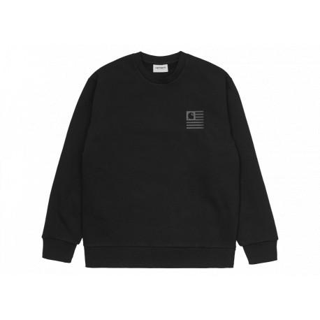 Carhartt Felpa State Patch Sweatshirt Uomo Nero