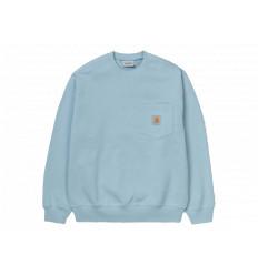 Carhartt Felpa Pocket Sweatshirt Uomo Frasted Blue