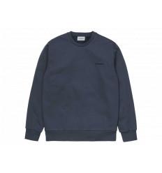Carhartt Felpa Script Embroidery Sweatshirt Uomo Admiral