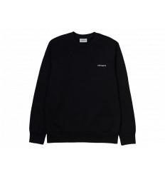 Carhartt Felpa Script Embroidery Sweatshirt Uomo Nero