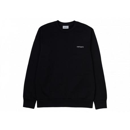 Felpa Carhartt Script Embroidery Sweatshirt uomo donna nero