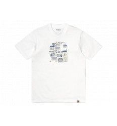 Carhartt T-shirt Atlas ADS C S/S Bianco Unisex