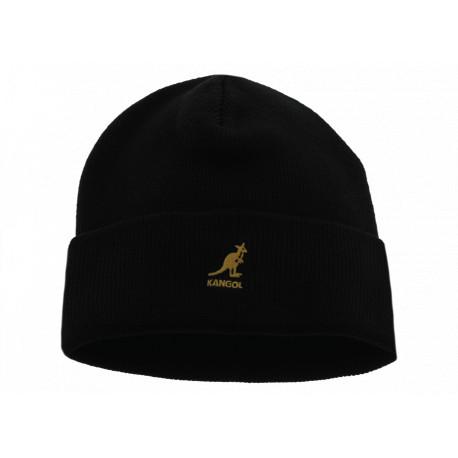 Kangol Acrilic Cuff Pull-On Black Gold Unisex
