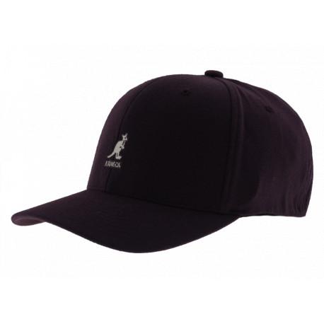 Kangol Wool Flexfit Baseball Black Berry Unisex