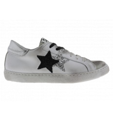 Scarpe 2Star Donna bianco grigio nero argento