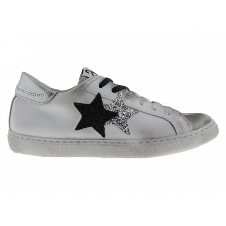 Scarpe 2Star Donna bianco grigio oro argento