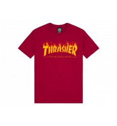 Thrasher Flame Logo T-shirt a Manica Corta da Uomo
