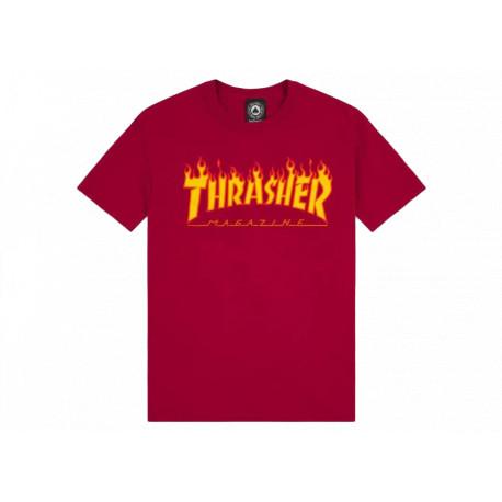 Trasher Flame Logo T-shirt T-shirt a Manica Corta da Uomo