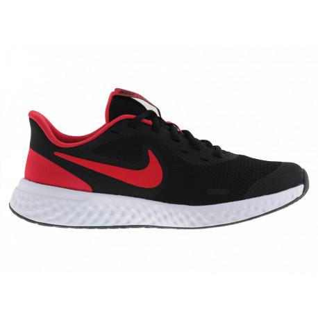 Nike Revolution 5 (GS) BQ5671017 Scarpe Running da Allenamento Nero/Rosso