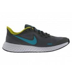Nike Revolution 5 (GS) BQ5671019 Scarpe Running da Allenamento Grigio/Turchese