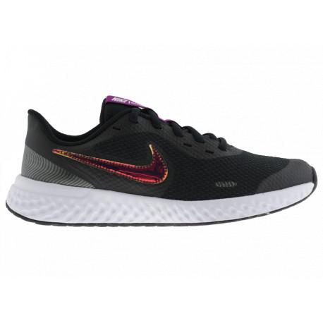 Nike Revolution 5 (GS) CW3263001 Scarpe Donna Running da Allenamento Grigio/Mulicolor