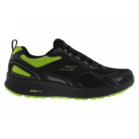 Skechers Scarpe Go Run Consistent 220081BKLM Uomo Nero/Verde Fluo