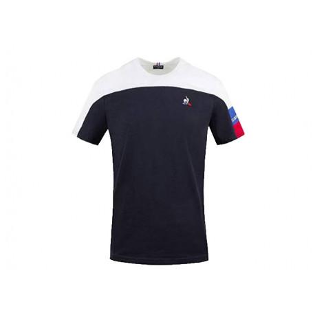 Le Coq Sportif T-shirt Uomo Tri Tee SS N°1 2020516 Blu