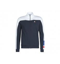 Le Coq Sportif Felpa Uomo Tri FZ Sweat n°1 2020520L Blu